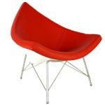Chaise Coconut classique en rouge