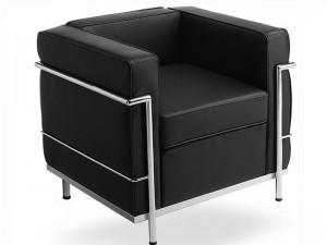 Le canapé LC2 du Corbusier noir