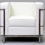 Le canapé LC2 du Corbusier blanc