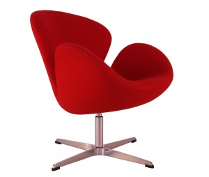 Chaise Swan rouge
