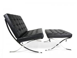 barcelona chair noir