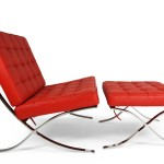 barcelona chair rouge